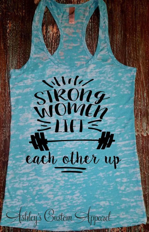 Womens Fitness Tank Top - Strong Women - Workout Tank Top - Gym Motivation - Girls Who Lift - Fitness Gifts - Inspirational Tank - Weights  by AshleysCustomApparel
