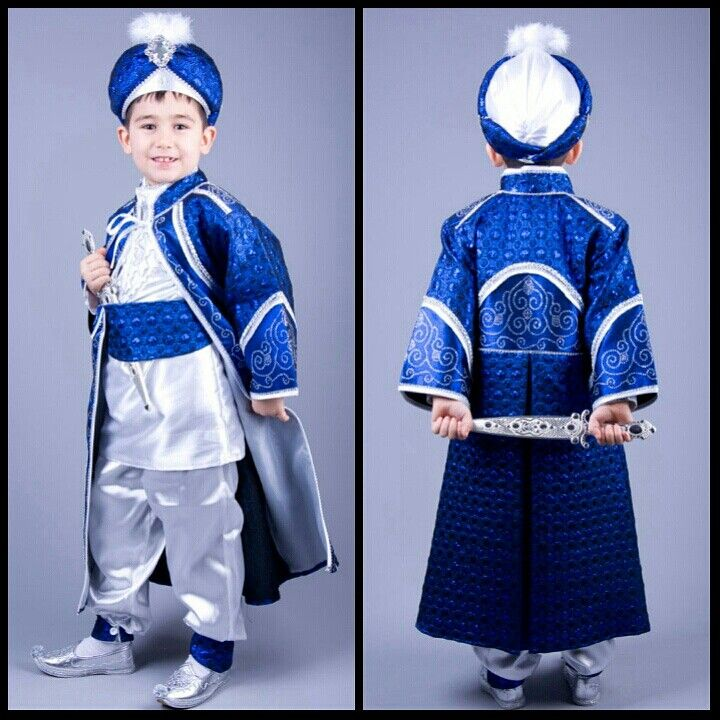 Diriliş Saks Mavi Kaftan Sünnet Kıyafeti 0212 909 32 31 www.sunnetcarsisi.com/kaftan-sunnet-kiyafetleri