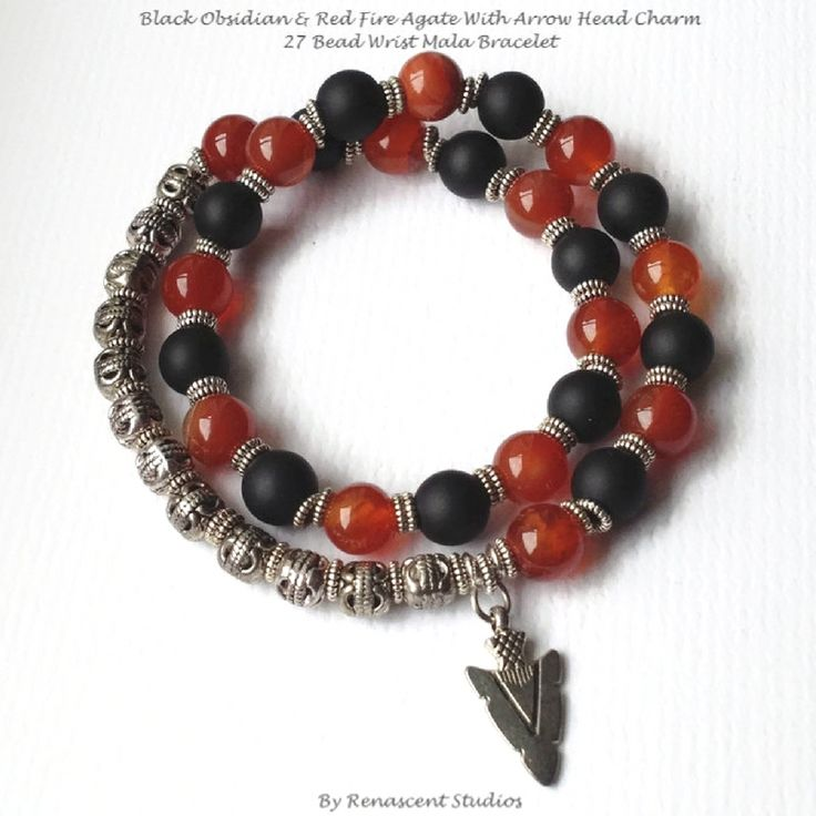 This fire agate bracelet for men is vibrant and stunning featuring eye-catching red fire agate gemstone beads, it double wraps around your wrist. A powerful bracelet aiding in protection and balance.