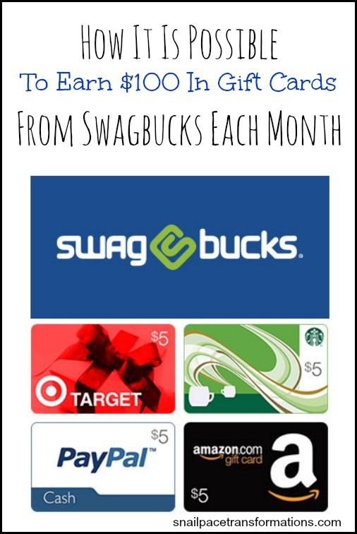 With 20+ ways to earn Swagbucks that you can cash in for gift cards, you might be able to earn more than you think in less time.