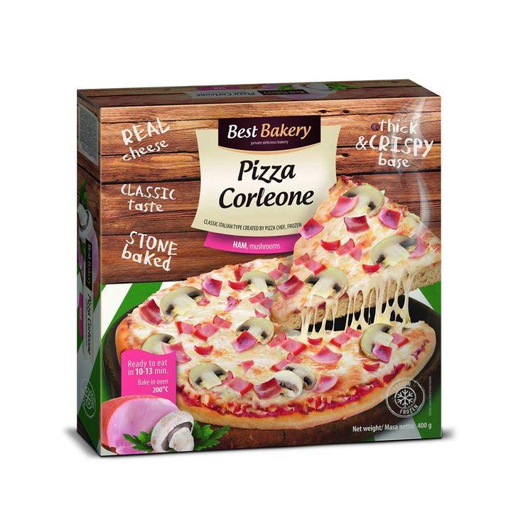 Pizza Corleone √ Puszyste ciasto + Ananas + Szynka  √ Puszyste ciasto + Bekon + Pieczarki + włoski sos kremowy √ Puszyste ciasto + Mięso mielone + Jalapeno + sos salsa √ Puszyste ciasto + Salami + Czarne oliwki + włoski sos kremowy √ Puszyste ciasto + Szynka + Pieczarki  Czas sięgnąć po nasze produkty aby porównać je do popularnej w Polsce pizzy naszej konkurencji
