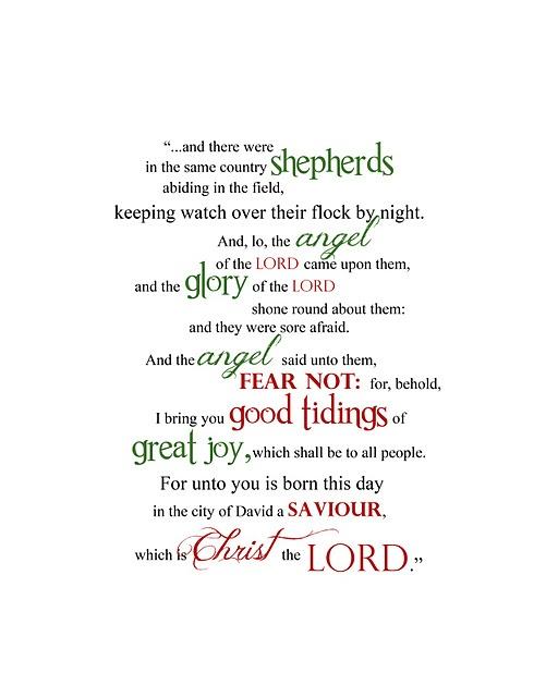 Free printable word art--Luke 2:8