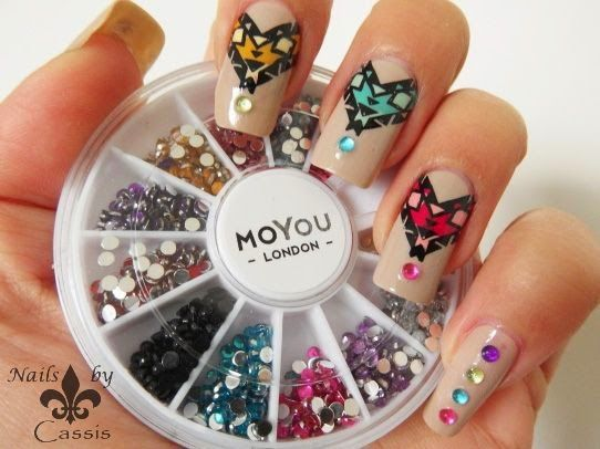 Nails by Cassis (@Cassis P ) done with Artist 09.  #nails #nailart #nailstamping #moyoulondon