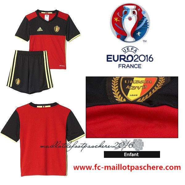 maillot foot belgique 2016 enfant domicile uefa euro pas chere maillot euro 2016 pinterest. Black Bedroom Furniture Sets. Home Design Ideas