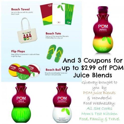 Wonderful Food Wednesday- POM Juice Blends Giveaway