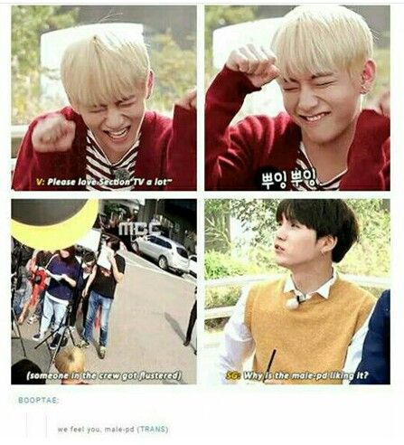hahah i love how suga always point out things