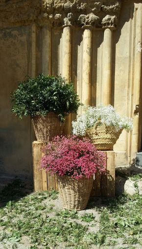 Seguimos apostando por la #paniculata y otras flores #secas para las puertas de las #iglesias. Les da un toque precioso. Y ojo al suelo... ¿os gusta? :)