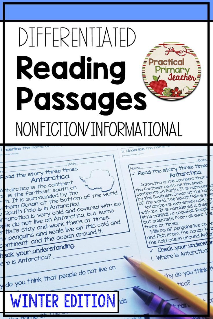 - Differentiated Reading Passages And Questions INFORMATIONAL WINTER