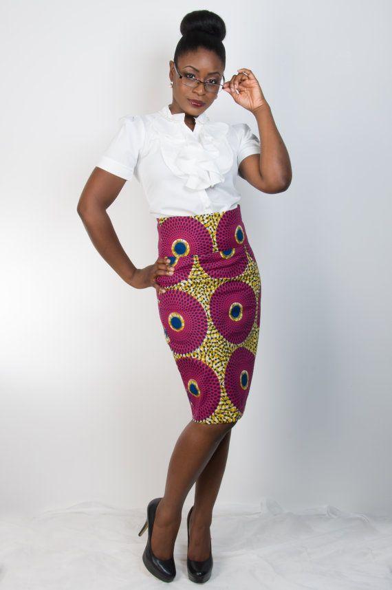 Ankara Asabi Skirt Straight Skirt African Fashion