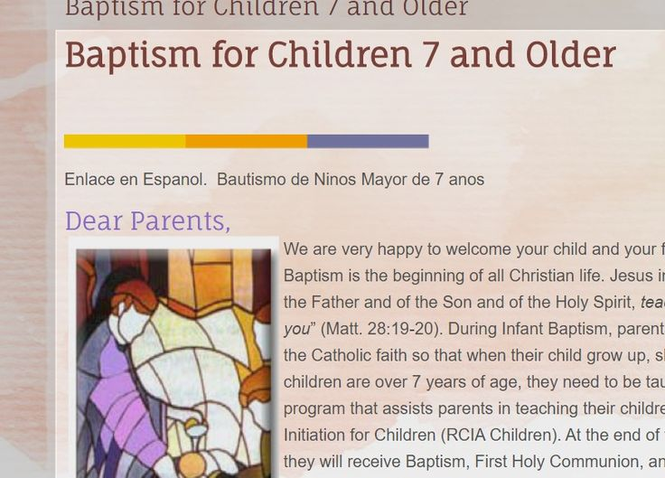 Baptism for Children 7 and Older | St. Matthew Catholic Church