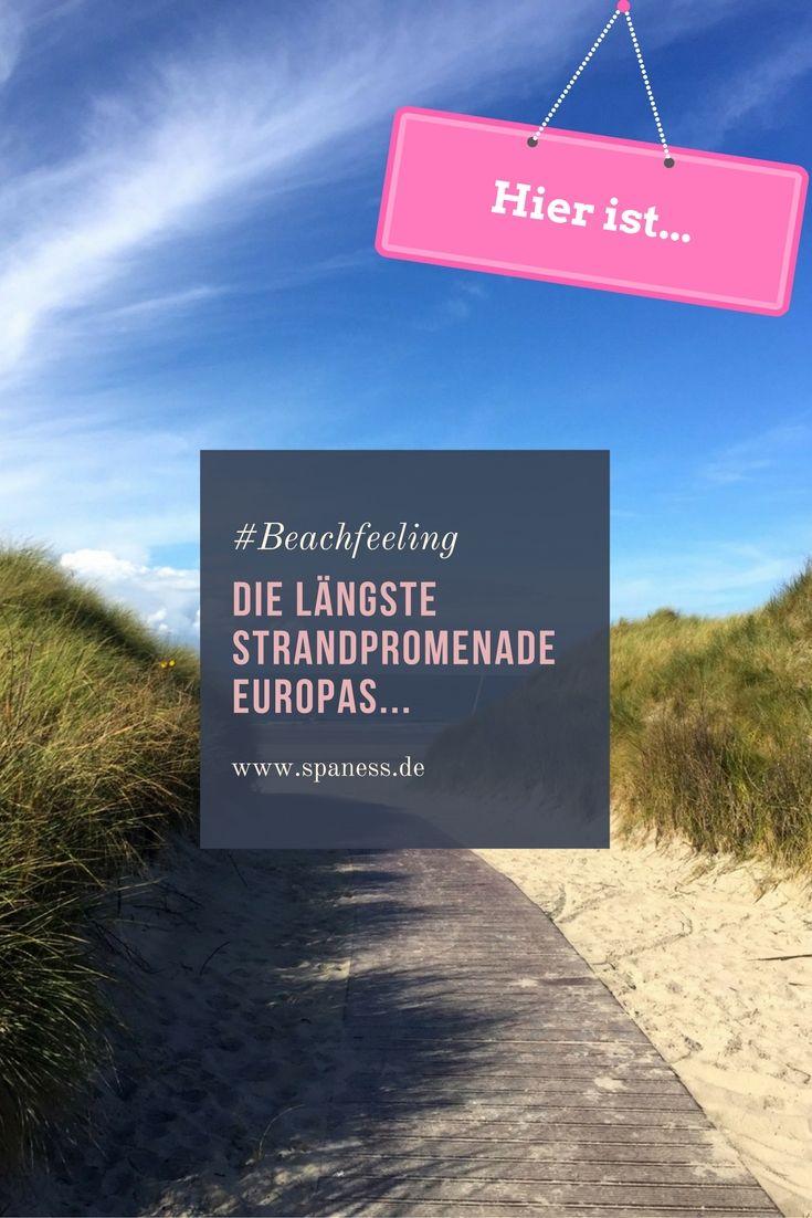 Strandpromenade - hier findest du die längste Strandpromenade Europas.
