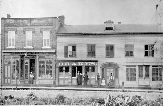 Drake S Saloon On East Huron St In 1875 Photo Courtesy Of The Bentley Historical Library