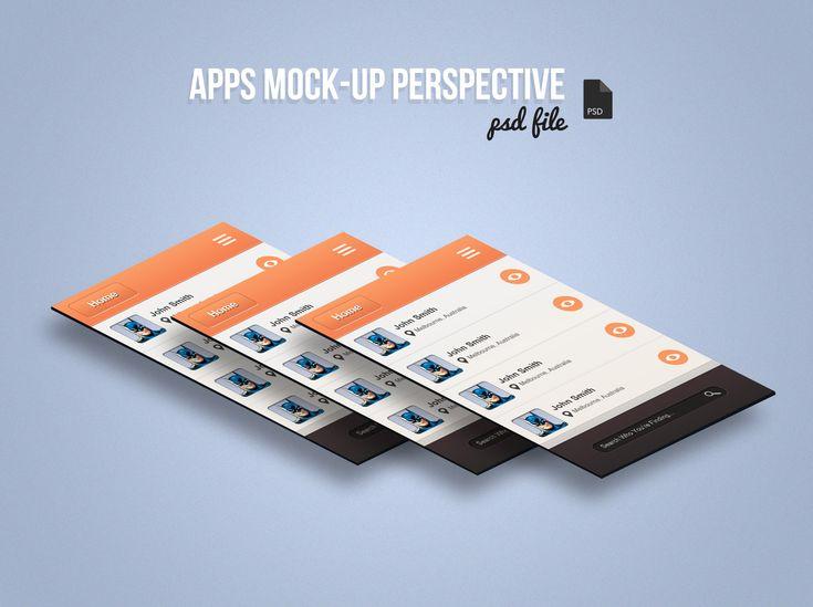 Free App Screen Mock-Up Perspective PSD - Bloom Web Design