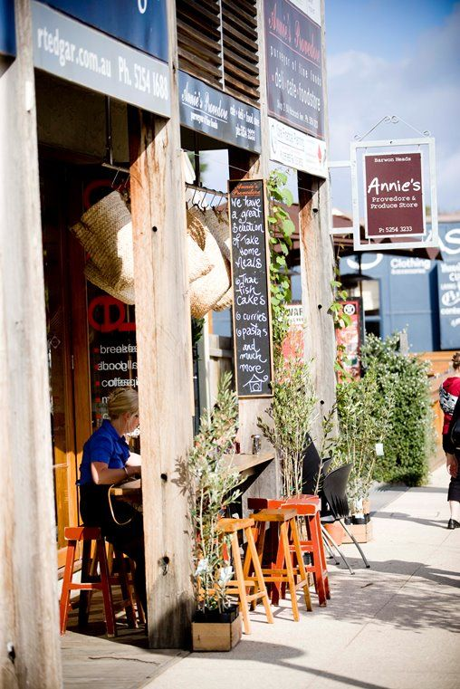 Restaurants, Cafes and Eateries.  Stroll along the main street of Barwon Heads and enjoy a coffee and meal at Annies Provedore (pic)
