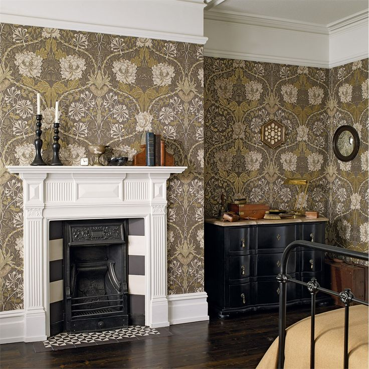 The Original Morris & Co - Arts and crafts, fabrics and wallpaper designs by William Morris & Company | Products | British/UK Fabrics and Wallpapers | Honeysuckle & Tulip (DM3W214700) | Archive III Wallpapers