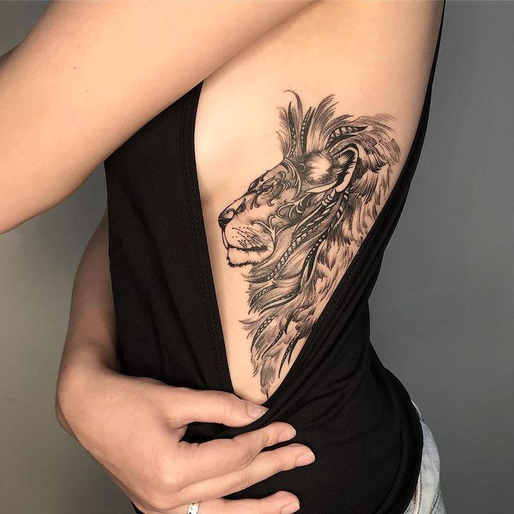 Tatuagem de Leão: mais de 40 ideias - Blog Tattoo2me em 2020 | Tatuagens, Tatuagem, Tatuagem costela feminina