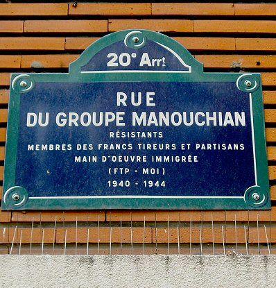 La rue du Groupe-Manouchian  (Paris 20ème)