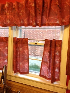 Raw Meat cafe curtains