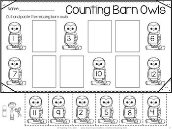 FREE owl counting activity!
