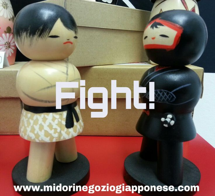 Kokeshi dedicate alle arti marziali fight!! :) #kokeshi #bambolekokeshi