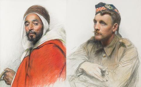 La Grande Guerre au musée de la Légion d'honneur : portraits de soldats d'Eugène Burnand | La grande chancellerie
