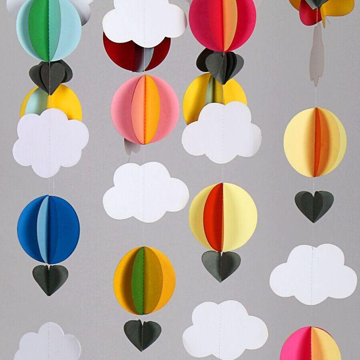 Aliexpress.com: Koop 6 feets (1.8 meter) 3D Papieren Heteluchtballonnen/Baby Douche Decor/Wieg Mobiele Wolken en Ballonnen/Nursery Mobiele/Foto Prop van betrouwbare douche arm omschakelklep leveranciers op Lemon Decorations