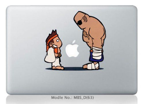 A pple macbook pro is the best laptop design ever made now these days people paste some cool characters stickers and decals on the fr