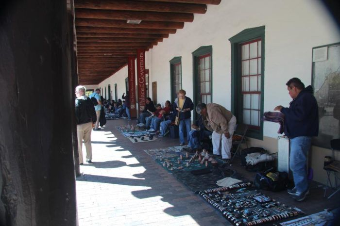 Some of New Mexico's finest Native American jewelry and crafts are sold under the portal at Santa Fe's Place of the Governors. The Native American Vendors program, more than 60 years old, helps ensure that the artists here are registered and that their work is authentic to their tribe.