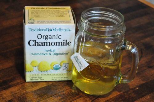 chamomile tea for teething babies!