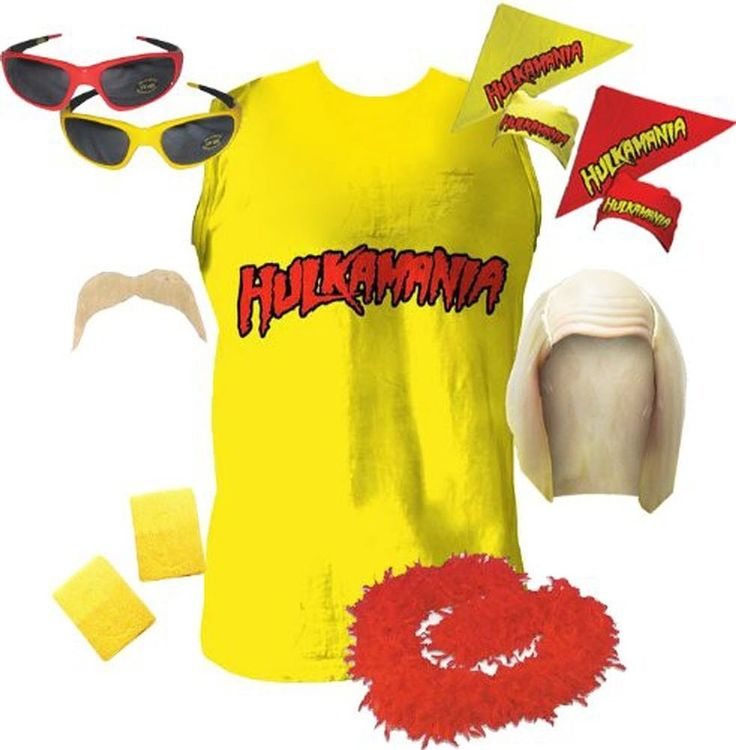 """If you have a super fan of professional wrestling to buy a present for this Christmas season, then this officially-licensed Hulk Hogan Hulkamania Complete Costume Set might channel the inner Hulkster in them to come out when the family is visiting.  Featuring everything one would need to transform themselves into Hulk Hogan, this Hulk Hogan  DIY Halloween kit will make its wearer a """"Real American."""""""