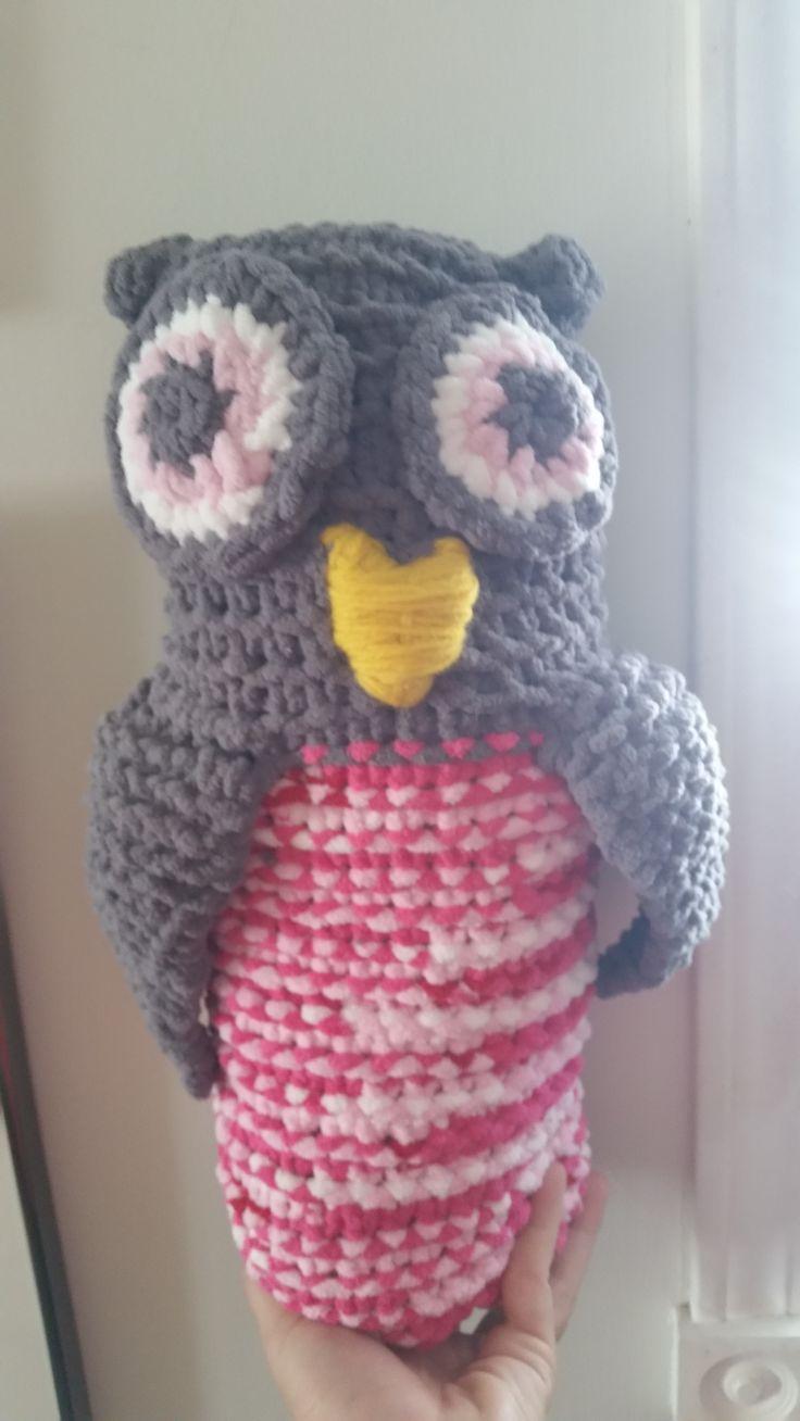 Loomed owl by Christina Kominek