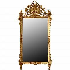 19-го века французский Людовик XVI Санкт-Giltwood Зеркало