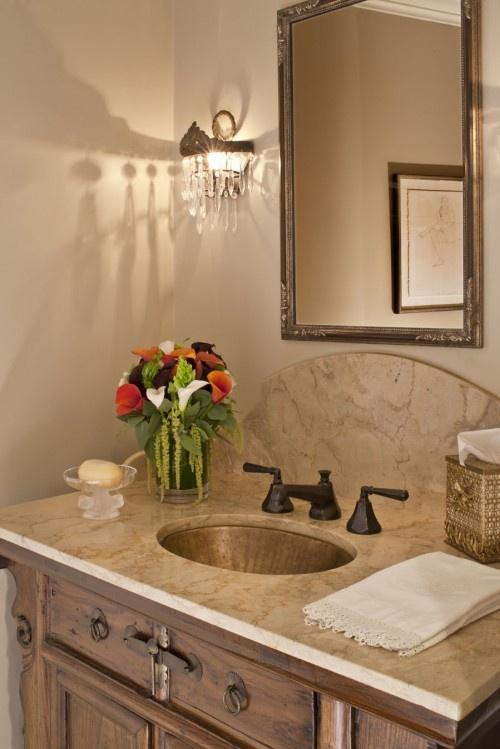 Love the sink - powder room.