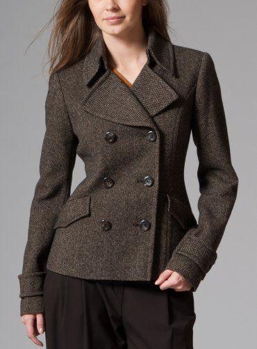 Dámský vlněný kabát pietro filipi
