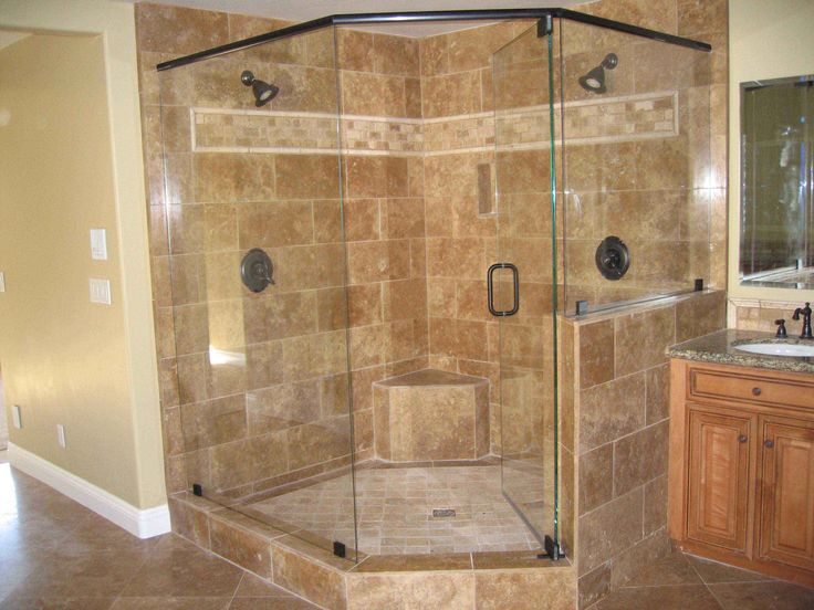 bathrooms with corner showers corner shower units fiberglass frameless frosted glass