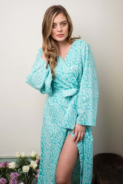 Pirouettes on Water Ankle Length Cotton Voile Robe by Ivy & Matilda  Made in Australia