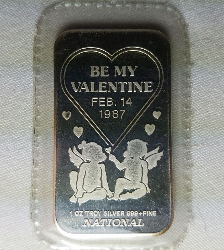 National Refiners Assayers Be My Valentine 1987 1 Oz