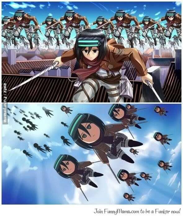 Attack on Titan x A Certain Scientific Railgun (I think)