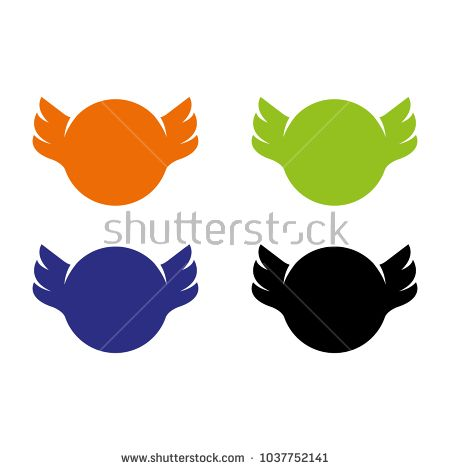 A set of wings icons