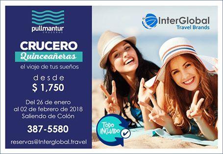 Crucero de Quinceañeras 2018 desde $1,750 ¡ULTIMOS CUPOS! Reserva YA al 387-5580