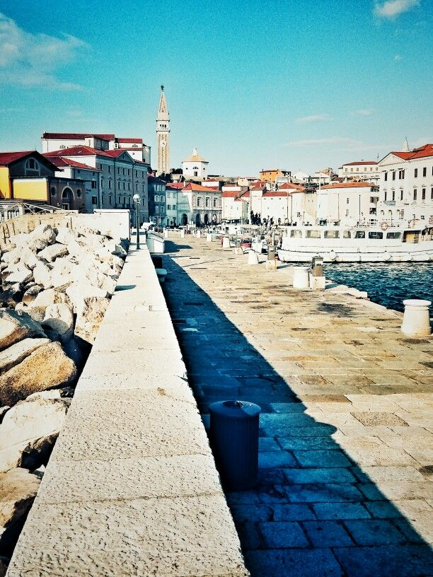 The view from a pier of lovely Piran