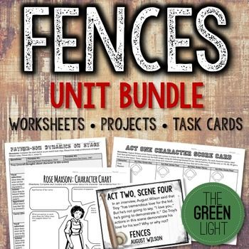If you're teaching August Wilson's play, Fences, you need this teaching bundle to help shape your unit and lesson plans. Included in this bundle: 56 task cards with engaging critical thinking questions for every scene of the play Anticipation guide Writing activities for each scene Troy as a tragic hero Uncle Remus allusion close-reading activity Characterization activities Video worksheet for film on the Negro Baseball Leagues (film available free online) Baseball terminology and allusions…