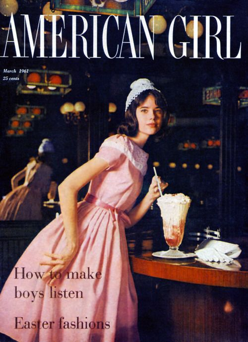 Colleen Corby on Cover of American Girl 1961    jαɢlαdy