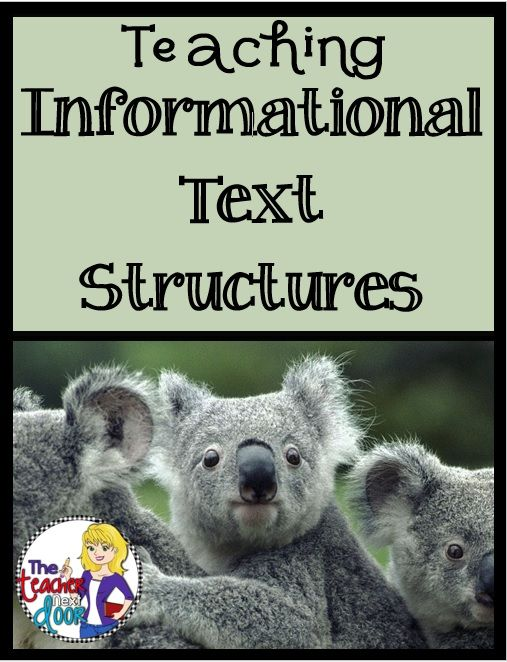 Lots of easy to implement ideas to help you teach informational text structure.
