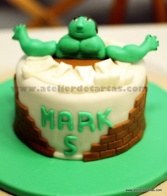 Tarta Fondant Cumpleaños Hulk