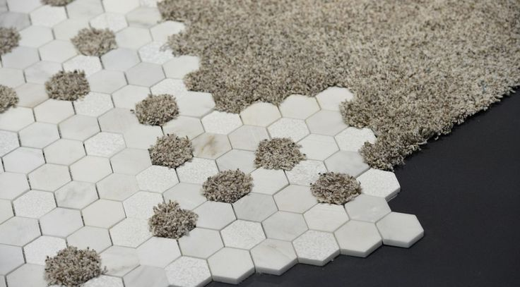 Love this idea of integrating where tile meets carpet...