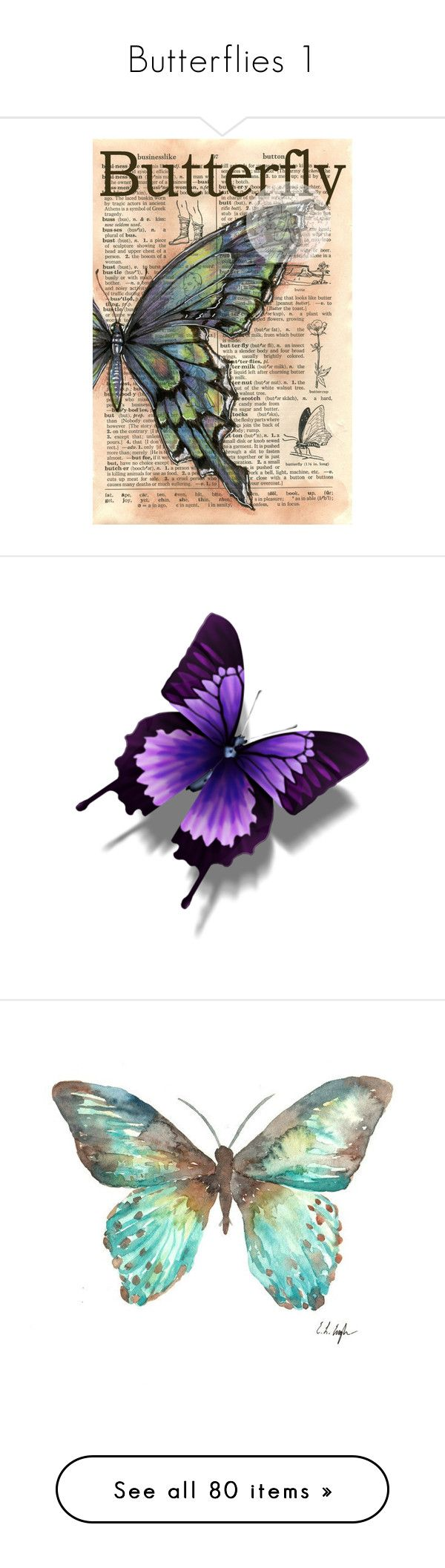 """Butterflies 1"" by artsygal ❤ liked on Polyvore featuring home, home decor, wall art, backgrounds, butterflies, art, fillers, paper, aqua home decor and distressed home decor"