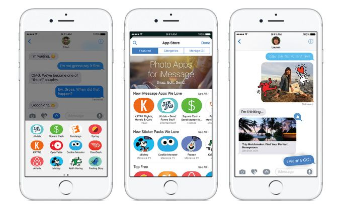 Apples iMessage App Store already has over 1650 apps majority are sticker packs