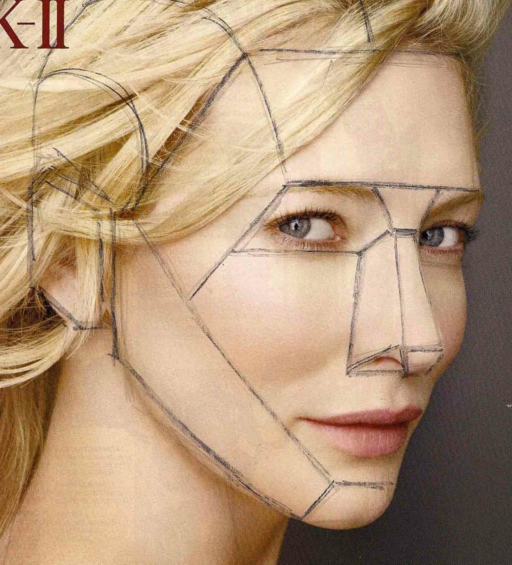 how to draw facial planes - Google Search