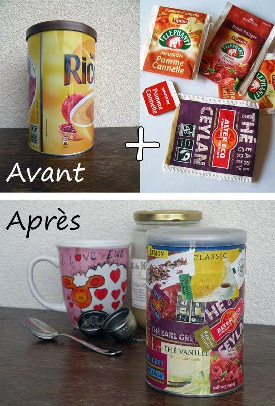 Tutoriel : Boite à thé récup - DIY Tea box